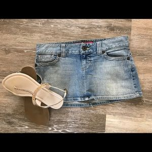 ❓Guess Jeans ultra mini jean skirt
